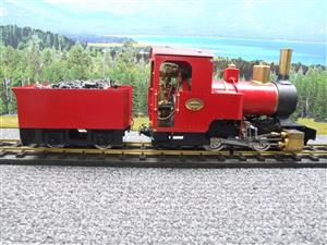 "G Scale  Roundhouse 45mm Gauge Brass, Red, 0-4-0T ""Billy"" Loco & ""George"" Tender Live Steam image 9"