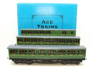 "Ace Trains O Gauge C1 Southern SR ""Southern"" Green x3 NC Passenger Coaches Set image 1"