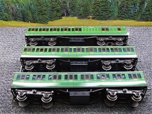 "Ace Trains O Gauge C1 Southern SR ""Southern"" Green x3 NC Passenger Coaches Set image 5"