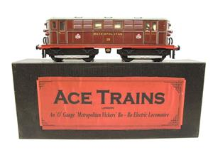 "Ace Trains O Gauge E17, Metropolitan Vickers Bo-Bo ""Metropolitan"" Loco No 19, Electric 2/3 Rail image 1"