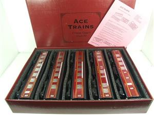 "Ace Trains O Gauge LMS C2 ""Merseyside Express"" Tinplate Coaches x5 Set Boxed image 1"