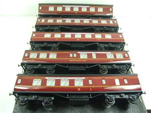 "Ace Trains O Gauge LMS C2 ""Merseyside Express"" Tinplate Coaches x5 Set Boxed image 8"