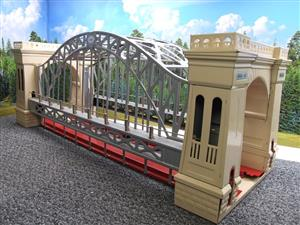 "T-Reproductions O Gauge 300 Steel Metal ""Hellgate Bridge"" Silver & Cream Boxed image 2"