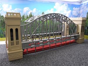 "T-Reproductions O Gauge 300 Steel Metal ""Hellgate Bridge"" Silver & Cream Boxed image 3"