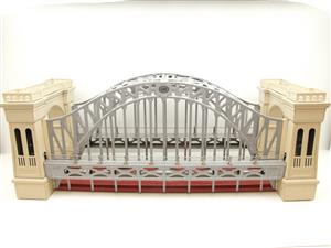 "T-Reproductions O Gauge 300 Steel Metal ""Hellgate Bridge"" Silver & Cream Boxed image 5"