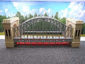 "T-Reproductions O Gauge 300 Steel Metal ""Hellgate Bridge"" Silver & Cream Boxed image 10"