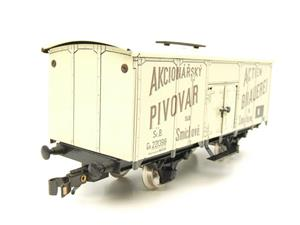 "ETS Czech O Gauge 444 Beer Car K. K.St. B. Series Lp ""Smíchow"" Van Wagon Metal N/NEW Boxed image 2"