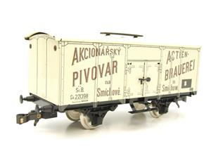 "ETS Czech O Gauge 444 Beer Car K. K.St. B. Series Lp ""Smíchow"" Van Wagon Metal N/NEW Boxed image 4"