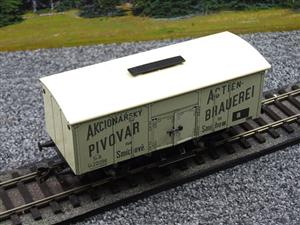"ETS Czech O Gauge 444 Beer Car K. K.St. B. Series Lp ""Smíchow"" Van Wagon Metal N/NEW Boxed image 7"