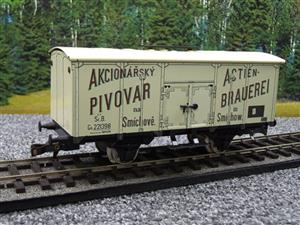 "ETS Czech O Gauge 444 Beer Car K. K.St. B. Series Lp ""Smíchow"" Van Wagon Metal N/NEW Boxed image 10"