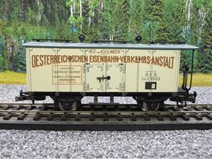 "ETS Czech O Gauge 452 Refrigerated Car Mineral Water ""Krondorf"" with Brake Plat Wagon Metal Bxd image 5"