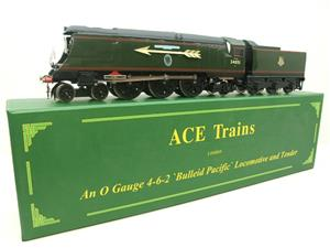 "Ace Trains O Gauge E9S1 Bulleid Pacific BR ""Sir Winston Churchill"" R/N 34051 Electric 2/3 Rail Boxed image 3"