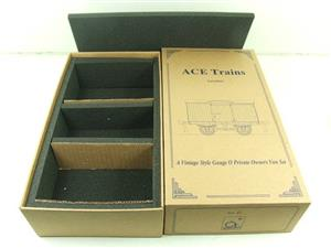 Ace Trains O Gauge Private Owners Empty Van Set Box New x3 Storage Box image 1