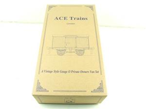 Ace Trains O Gauge Private Owners Empty Van Set Box New x3 Storage Box image 2