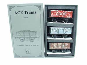 "Ace Trains O Gauge G/5 WS10 Private Owner ""Co-Op"" Coal Wagons x3 Set 10 Bxd image 1"