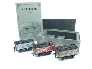"Ace Trains O Gauge G/5 WS10 Private Owner ""Co-Op"" Coal Wagons x3 Set 10 Bxd image 2"