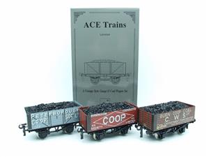 "Ace Trains O Gauge G/5 WS10 Private Owner ""Co-Op"" Coal Wagons x3 Set 10 Bxd image 3"