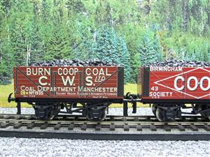 "Ace Trains O Gauge G/5 WS10 Private Owner ""Co-Op"" Coal Wagons x3 Set 10 Bxd image 6"
