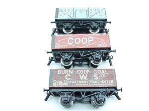 "Ace Trains O Gauge G/5 WS10 Private Owner ""Co-Op"" Coal Wagons x3 Set 10 Bxd image 7"