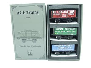 "Ace Trains O Gauge G/5 WS9 Private Owner ""Wagon Builders"" Coal Wagons x3 Set 9 Bxd image 1"