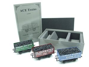"Ace Trains O Gauge G/5 WS9 Private Owner ""Wagon Builders"" Coal Wagons x3 Set 9 Bxd image 2"