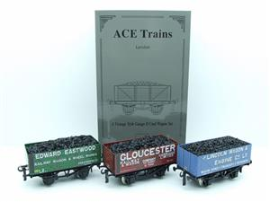 "Ace Trains O Gauge G/5 WS9 Private Owner ""Wagon Builders"" Coal Wagons x3 Set 9 Bxd image 3"