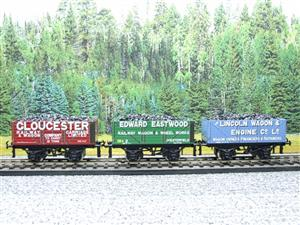 "Ace Trains O Gauge G/5 WS9 Private Owner ""Wagon Builders"" Coal Wagons x3 Set 9 Bxd image 4"