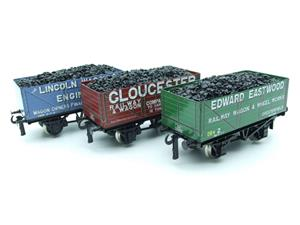 "Ace Trains O Gauge G/5 WS9 Private Owner ""Wagon Builders"" Coal Wagons x3 Set 9 Bxd image 10"