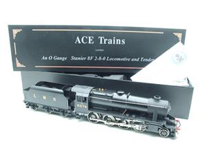 Ace Trains O Gauge E38B1, LMS Un-Lined Satin Black Class 8F, 2-8-0 Locomotive and Tender R/N 8274 image 3