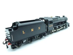 Ace Trains O Gauge E38B1, LMS Un-Lined Satin Black Class 8F, 2-8-0 Locomotive and Tender R/N 8274 image 8