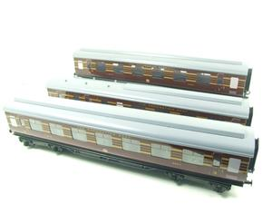Ace Trains O Gauge C28B LMS Maroon Coronation Scot Coaches x3 Set B Bxd 2/3 Rail image 2
