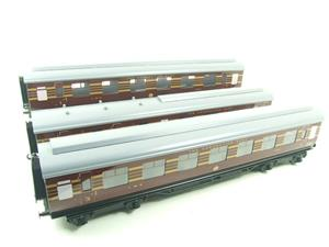 Ace Trains O Gauge C28B LMS Maroon Coronation Scot Coaches x3 Set B Bxd 2/3 Rail image 3