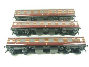 Ace Trains O Gauge C28B LMS Maroon Coronation Scot Coaches x3 Set B Bxd 2/3 Rail image 8