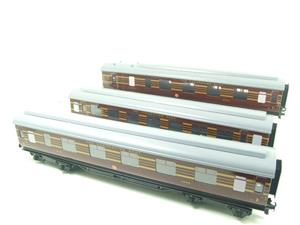 Ace Trains O Gauge C28A LMS Maroon Coronation Scot Coaches x3 Set A Bxd 2/3 Rail image 2