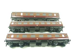 Ace Trains O Gauge C28A LMS Maroon Coronation Scot Coaches x3 Set A Bxd 2/3 Rail image 8