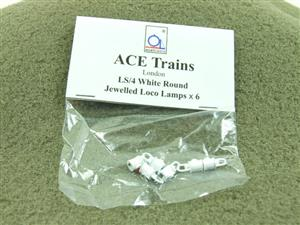 Ace Trains O Gauge LS4 White Round Jewelled Loco Lamps Pack of Six image 1