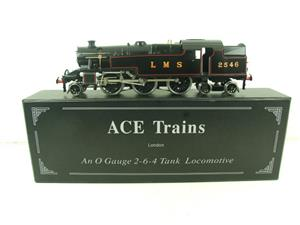 Ace Trains O Gauge E8 LMS Satin Black 2 Cyl Stanier Tank Loco R/N 2546 Electric 2/3 Rail Bxd image 1