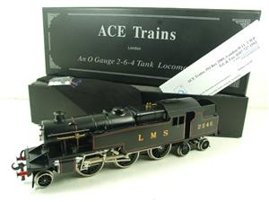Ace Trains O Gauge E8 LMS Satin Black 2 Cyl Stanier Tank Loco R/N 2546 Electric 2/3 Rail Bxd image 3