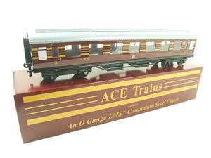Ace Trains O Gauge C28-03 LMS Maroon Coronation Scot Open 3rd Coach Bxd 2/3 Rail image 3