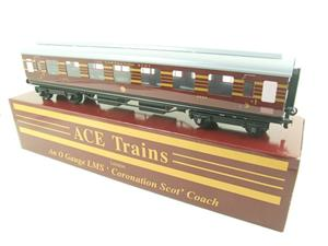 Ace Trains O Gauge C28-03 LMS Maroon Coronation Scot Open 3rd Coach Bxd 2/3 Rail image 4