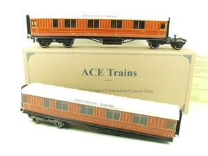 Ace Trains O Gauge C6 LNER Teak Style Articulated Sleepers Sleeping Coaches x2 Set Boxed image 1