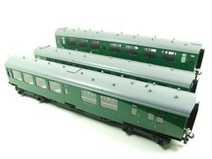 Ace Trains O Gauge C21B SR Green Bulleid Post War x3 Coaches Set B Boxed image 2