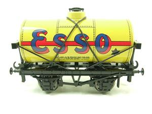 "Ace Trains O Gauge G1 Four Wheel Tinplate ""Esso"" Yellow Fuel Tanker Wagon image 1"