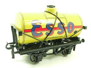 "Ace Trains O Gauge G1 Four Wheel Tinplate ""Esso"" Yellow Fuel Tanker Wagon image 2"
