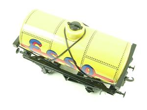 "Ace Trains O Gauge G1 Four Wheel Tinplate ""Esso"" Yellow Fuel Tanker Wagon image 5"