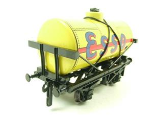"Ace Trains O Gauge G1 Four Wheel Tinplate ""Esso"" Yellow Fuel Tanker Wagon image 7"