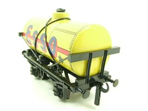 "Ace Trains O Gauge G1 Four Wheel Tinplate ""Esso"" Yellow Fuel Tanker Wagon image 8"