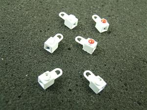 Ace Trains O Gauge LS3 White Square Jewelled Loco Lamps Pack of Six image 3