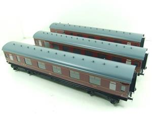 Ace Trains O Gauge C18A LMS Maroon Stainier Coaches x3 B/New Bxd 2/3 Rail Set A image 2