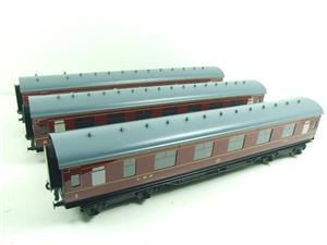 Ace Trains O Gauge C18A LMS Maroon Stainier Coaches x3 B/New Bxd 2/3 Rail Set A image 3